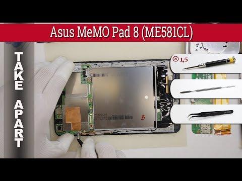 How to disassemble 📱 Asus MeMO Pad 8 ME581CL Take apart Tutorial