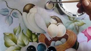 Pintando Pássaro com ninho e ovos – Part. 2 – Ivanice Isabel