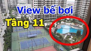 Khám phá view bể bơi, tiện ích nội khu từ tầng 11 dự án Vinhomes Smart City VuongLand