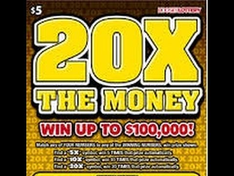 Scratch Off 20X The Money Indiana Lottery Two Videos In One