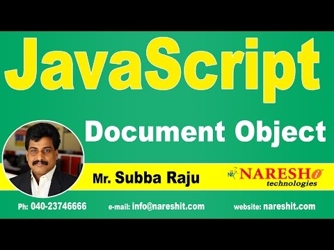 JS Document Object | JavaScript Tutorial | Mr. Subba Raju