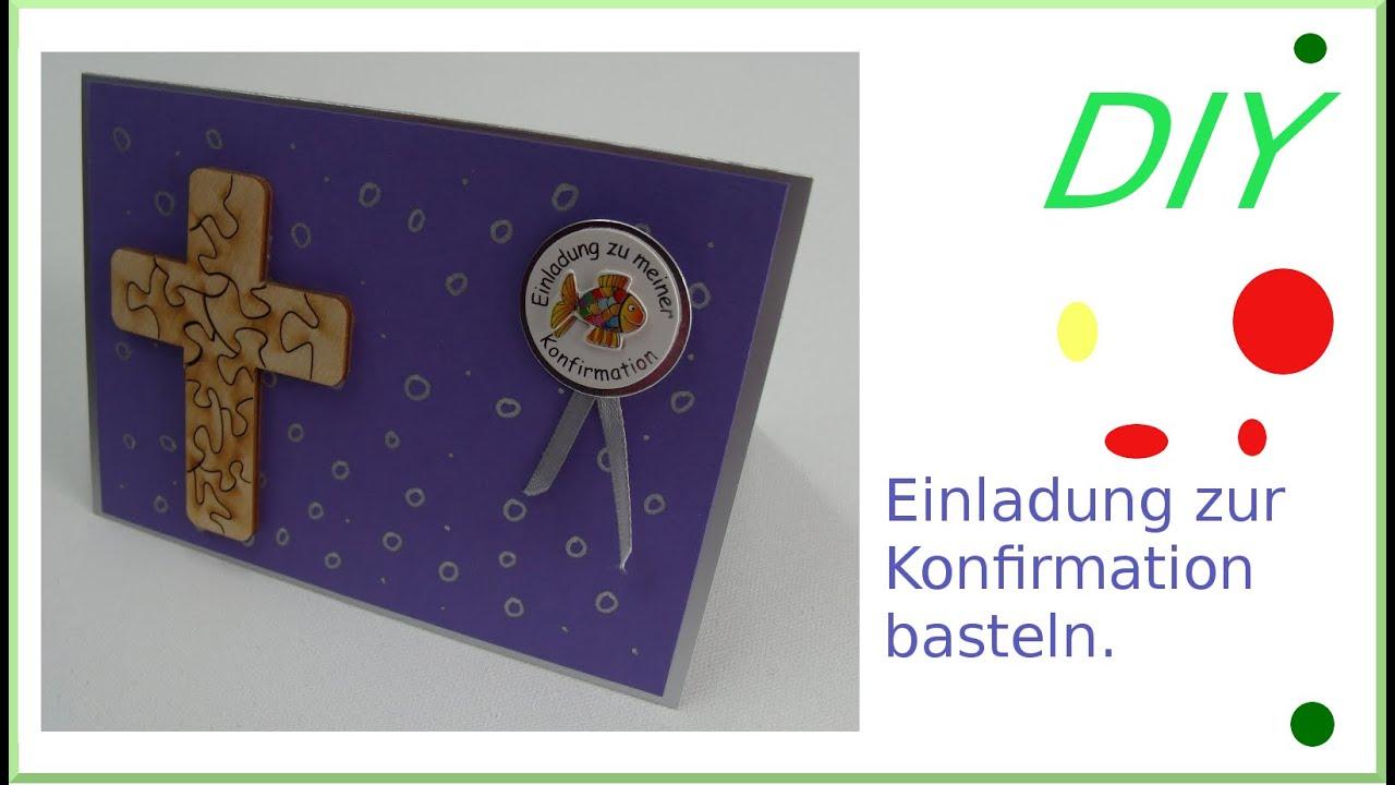 Einladungskarte Zur Konfirmation Selber Basteln [deutsch] Folge 2/8