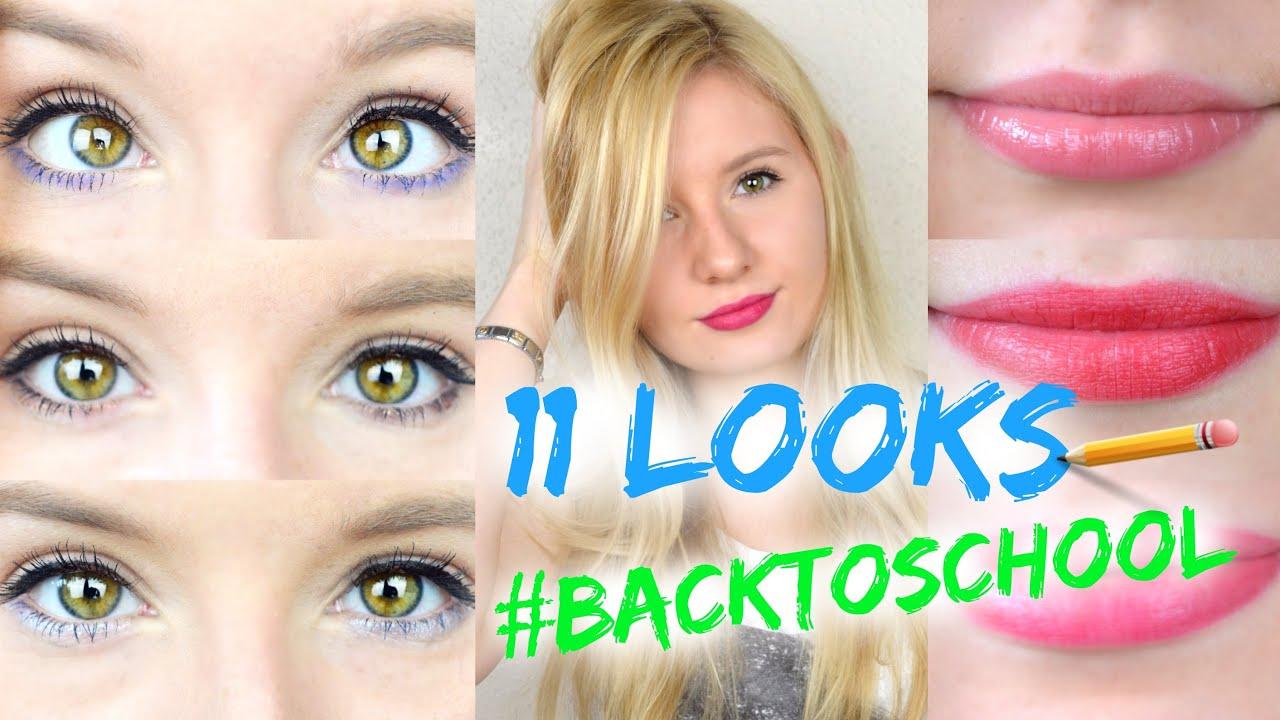 11 schnelle leichte makeup looks f r die schule uni job youtube. Black Bedroom Furniture Sets. Home Design Ideas
