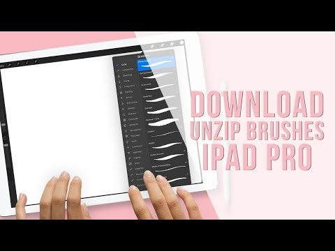 How to Install Procreate Brushes in Procreate 2018 | Unzip