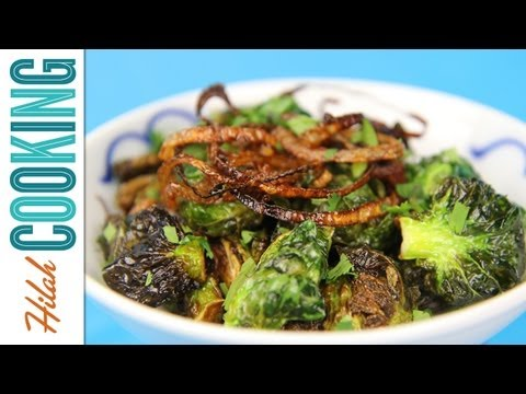 How to Make Fried Brussels Sprouts |  Hilah Cooking