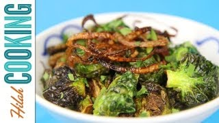 Fried Brussels Sprouts |  Hilah Cooking