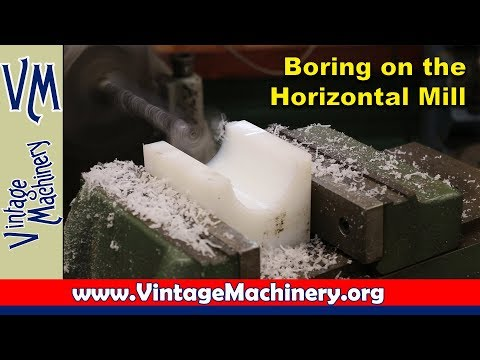 Boring on the Horizontal Mill - Cane Mill Bearing