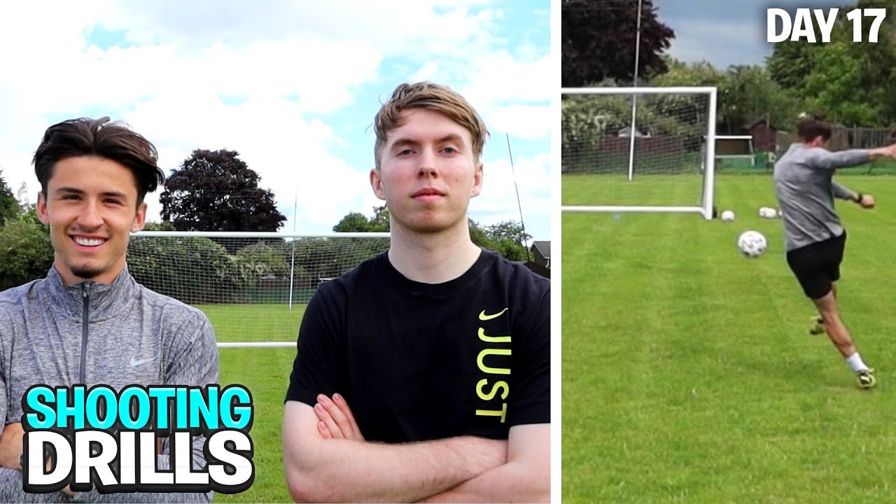 BEST FOOTBALLER SHOOTING DRILLS... (DAY IN THE LIFE OF A FOOTBALLER) | Day 17