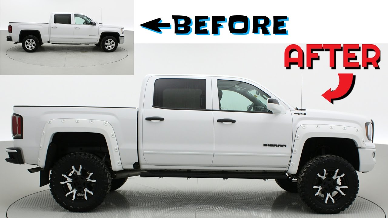 images for 2017 gmc sierra leveling kit before and after