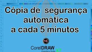 Cópia de segurança automática CorelDRAW X7