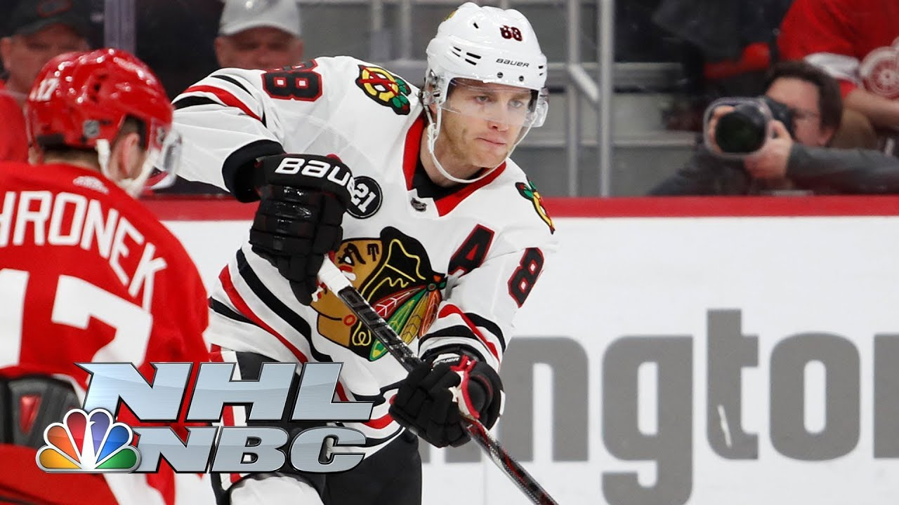 Patrick Kane extends point streak to 19 games, Red Wings' Howard smashes stick | NHL | NBC Sports