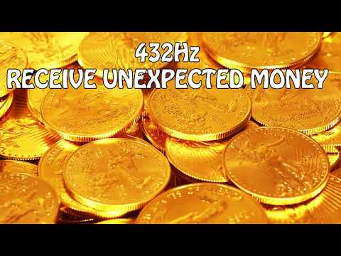 432Hz (¥$£€) RECEIVE UNEXPECTED MONEY Golden energy l Music to Attract Money