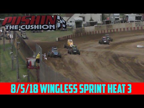 Angell Park Speedway - 8/5/18 - Sprints - Heat 3
