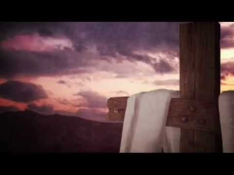 Cross with Fabric and Sunset Background Motion Video Loops HD