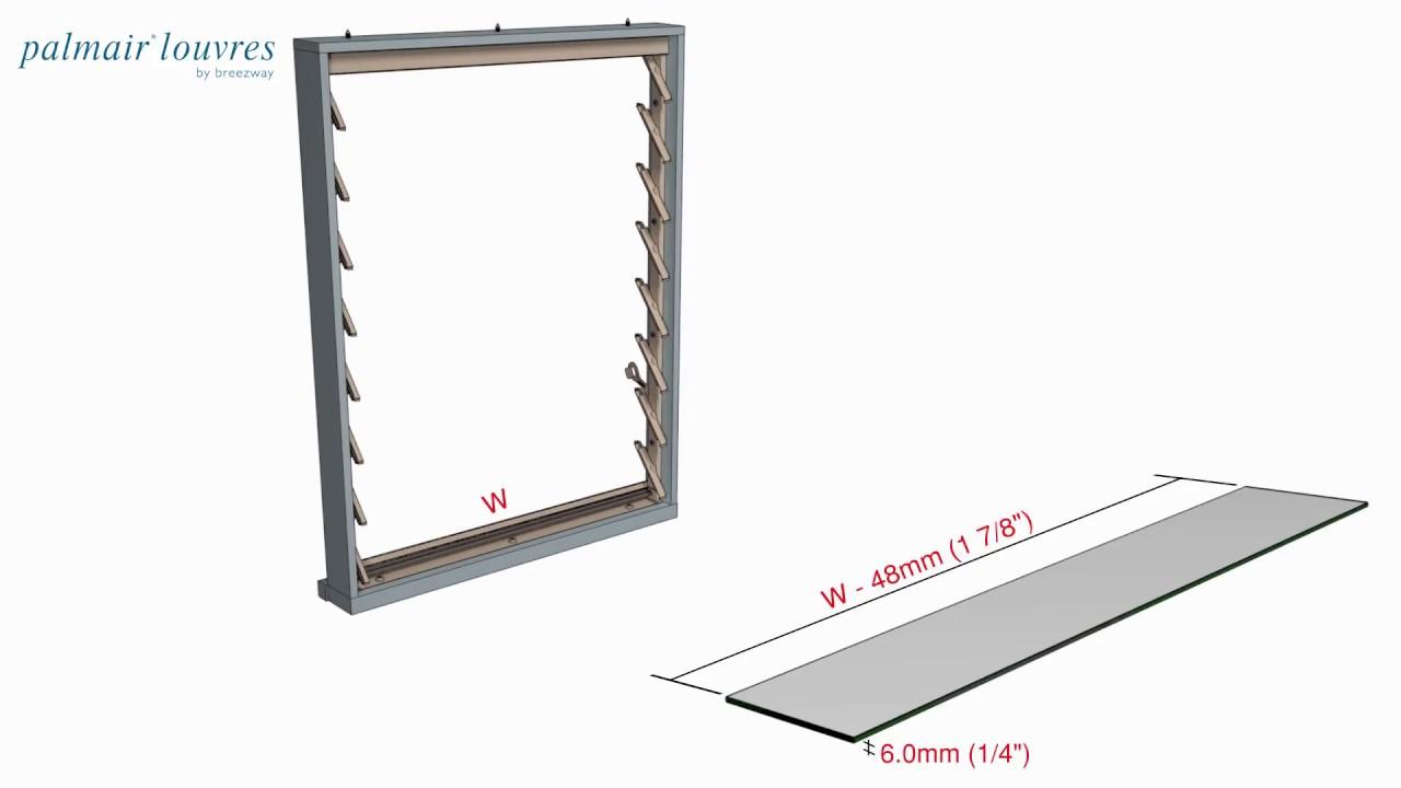 Breezway Palmair Louvre Window Installation Instructions - YouTube