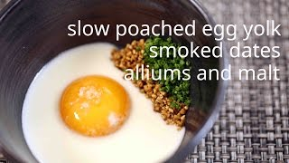 Chef James Syhabout shows David Kinch How To Make His Signature Egg Dish