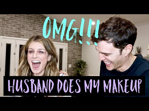 HUSBAND DOES MY MAKEUP CHALLENGE  Shenae GrimesBeech