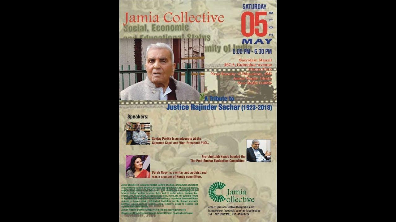 A Tribute to Justice Rajinder Sachar