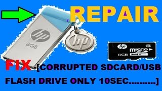 repair fix corrupted sd card usb flash drive usb not recognized working using cmd