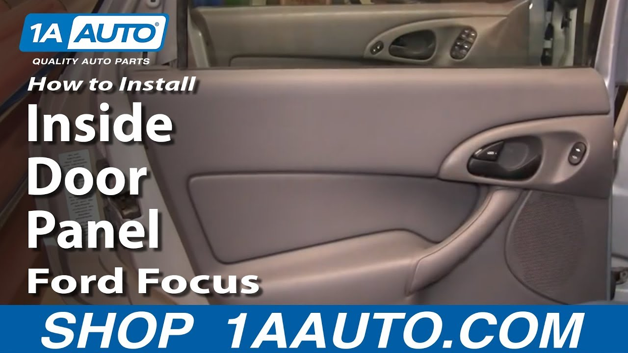 how to install replace remove rear inside door panel ford focus 00 07 youtube. Black Bedroom Furniture Sets. Home Design Ideas