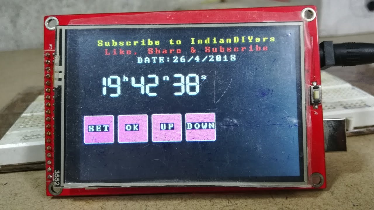 How to Make Realtime Clock using Arduino and TFT display | IndianDIYers