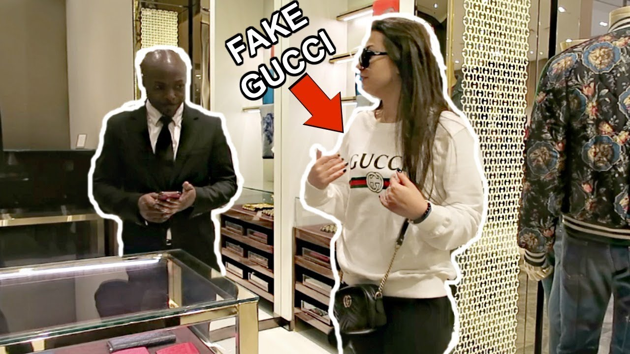 WEARING FAKE GUCCI TO THE GUCCI STORE PRANK
