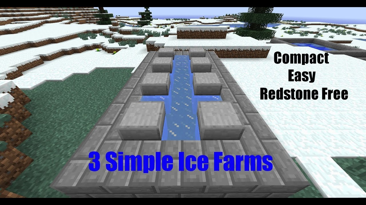 How To Make Packed Ice Minecraft