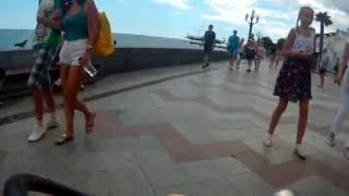 Ялта на велосипеде по городу - гостиница Крым - набережная - Чехов - гостиница Ореанда - 2016 07 09(2016 0709 140619 032., 2016-07-09T16:18:50.000Z)