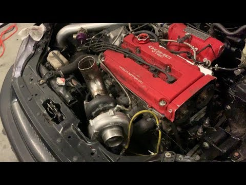 Installing a top mount TURBO set up on a B18 Civic