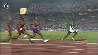 Michael Johnson Sprints To Gold At 1996 Olympic Games | Gold Medal Moments Presented By HERSHEY'S