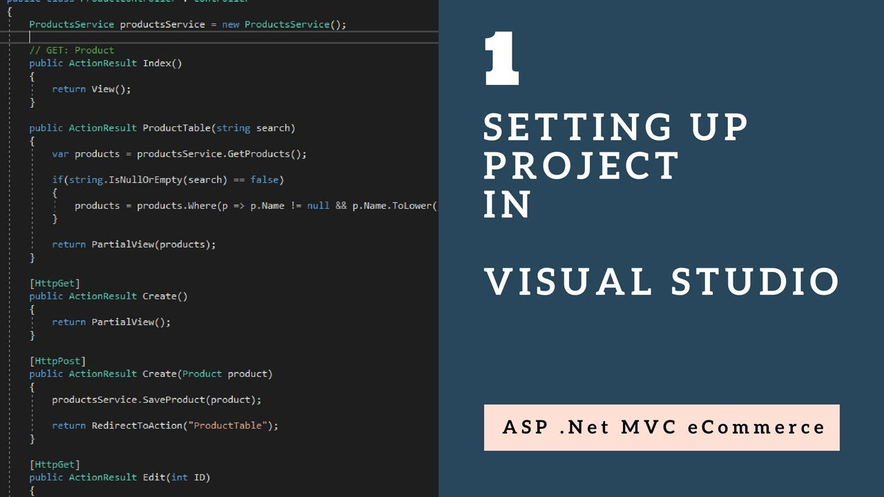 Setting Up Initial Project in Visual Studio with ASP .Net MVC - Session 1