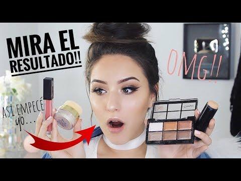 ME MAQUILLO CON PRODUCTOS DE ONCE ( ASI EMPECÉ YO ) | Melina Quiroga Makeup
