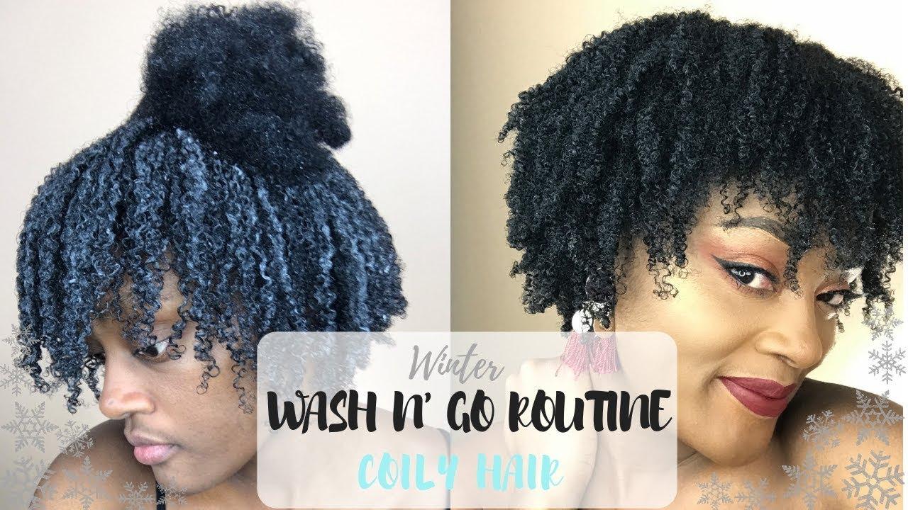 Winter Wash And Go Routine 4c Hair Youtube