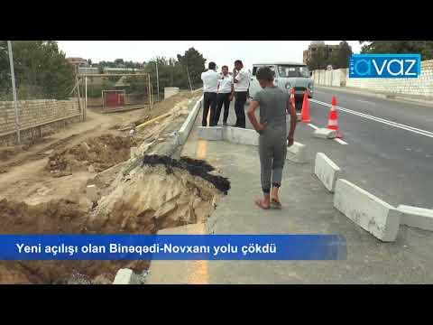 Yeni açılışı olan Binəqədi-Novxanı yolu çökdü