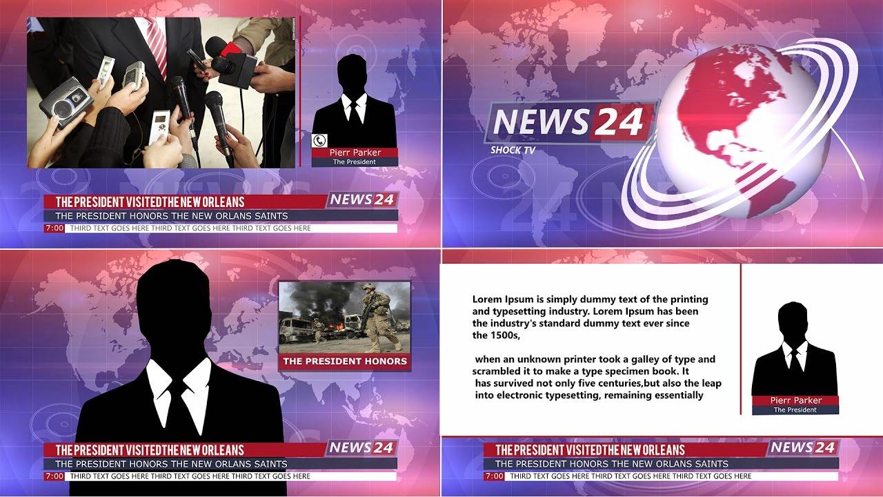 template news broadcast 4 sony vegas 12 13 14 youtube