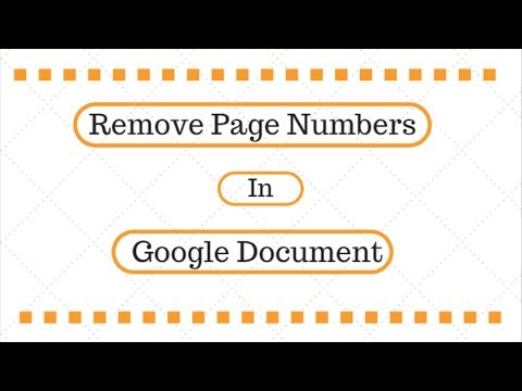 How To Remove Page Numbers in Google Doc