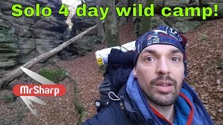 4 day solo camping- WINTER- Müllerthal trail, route 2
