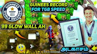 99 GLOW WALL IN ONE MATCH 😱 || NEW GUINEES WORLD RECORD CREATED BY TGB SPEED 🏅🏆 || GARENA FREEFIRE 😈
