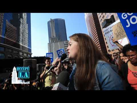 Occupy LA Bank Transfer Day Elise Whitaker Speech.mp4