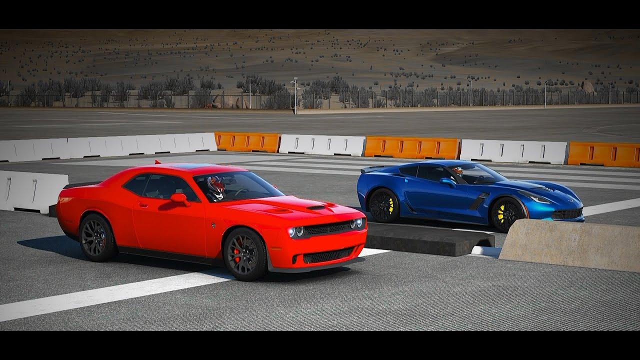 ... Dodge Challenger SRT Hellcat vs 2015 Chevrolet Corvette Z06 - YouTube
