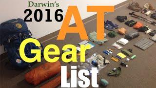 2016 AT Thru Hike Gear List