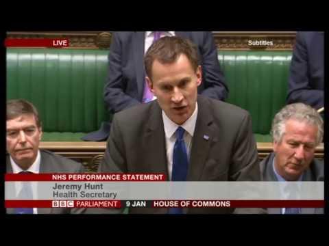 NHS Crisis debate: Jeremy Hunt answers urgent questions