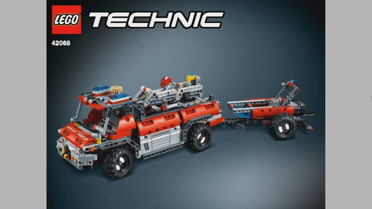 2017 lego technic 42068 fire rescue vehicle instruction. Black Bedroom Furniture Sets. Home Design Ideas