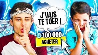 I PRANK SALEMENT MY PETIT FREE WITH 1000 of FAUX V-BUCKS on FORTNITE! IT STRSTRIUS... 😪