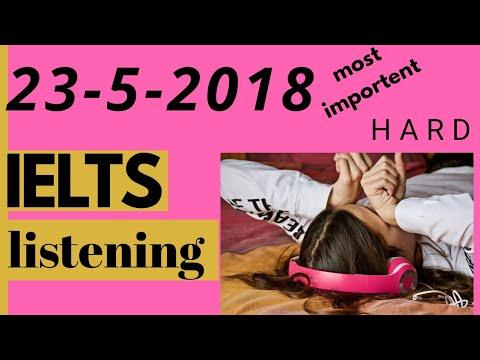 IELTS LISTENING PRACTICE TEST 23-05-2018
