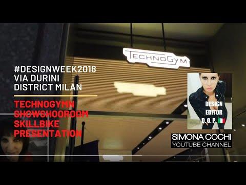 Technogym Store - Skill Bike Presentation Via Durini - Video Blog by Simona Cochi