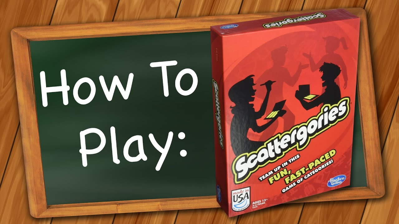 How To Play Scattergories Youtube