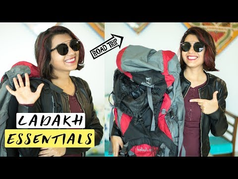 Leh Ladakh Roadtrip Essentials | What's in our Travel Bag | Important Things | Wandering Minds Vlogs