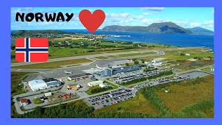 NORWAY: LANDING at the airport of spectacular ÅLESUND