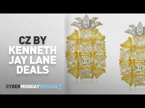 Cyber Monday Women's Jewelry By Cz By Kenneth Jay Lane: CZ by Kenneth Jay Lane Princess Pineapple